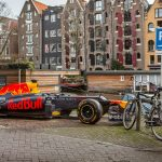 Formula 1 car parks up