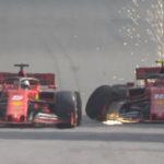 Vettel-Leclerc crash Brasile
