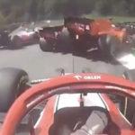 Leclerc Vettel crash 1
