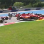 Leclerc Vettel crash 2